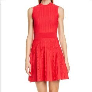 Kamylia Scallop Knit Skater Dress NWOT